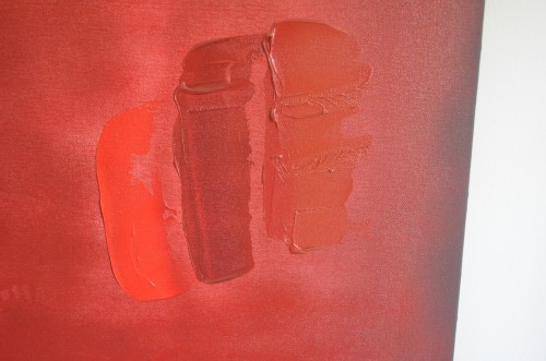 THE (detail): 3 shades of Red