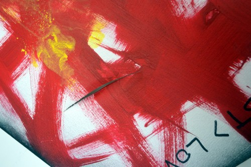 LUST (detail): cut on canvass